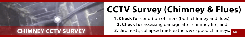 We offer a Chimney CCTV Survey and Chimney Inspection for your chimney and flue. CCTV Surveys can be used for 1. Check for condition of liners (both chimney and flues); 2. Check for assessing damage after chimney fire; and 3. Check for birds nests, collapsed mid-feathers & capped chimneys. We offer our CCTV Survey in Clare and Limerick including including Ennis and Limerick City. Phone us on 0873890670